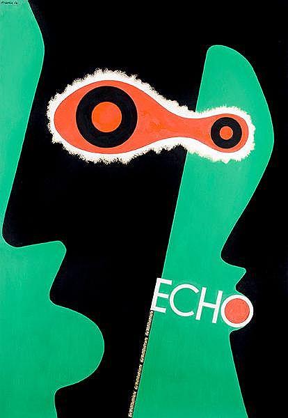 Plakate - - Strässer, Herbert. Echo. Die Weltillustrierte. Farbiger Plakate