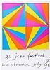 Bill, Max. 25 jazz festival montreux juli 1991. Farbserigraphie auf dünnem, Max Bill, €160