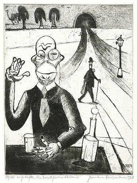 Naumann, Hermann. Acht Radierungen zu Kafka. Mit der Erzählung