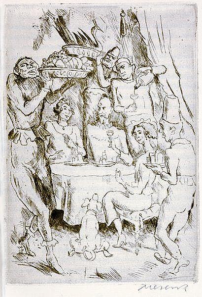 Obelisk Drucke - - Brentano, Clemens. Das Märchen von Gockel und Hinkel. Mi