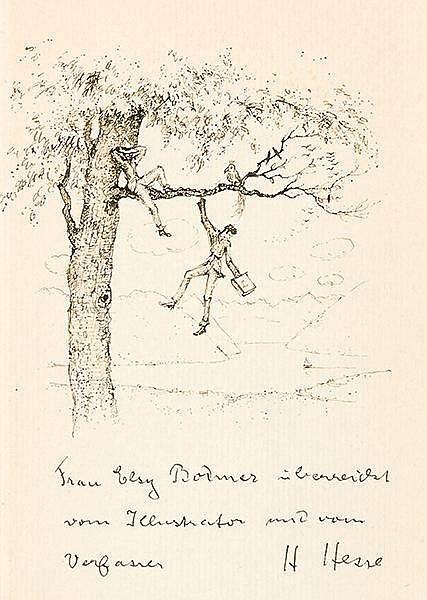 Hesse, Hermann. Hermann Lauscher. Mit 25 Illustrationen nach Zeichnungen vo