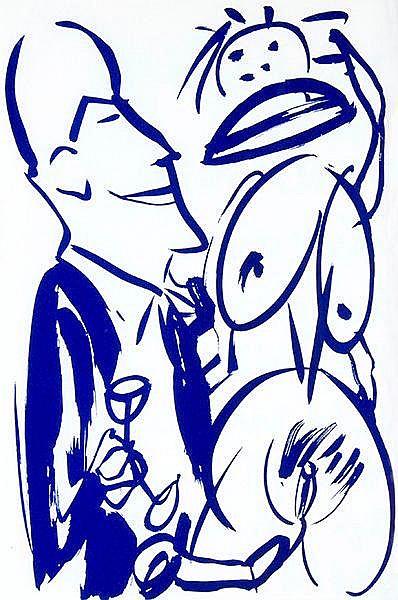 Penck, A. R. - - Kirsch, Sarah. Lyrik. Mit 70 in 5 Farben gedruckten Zeichn