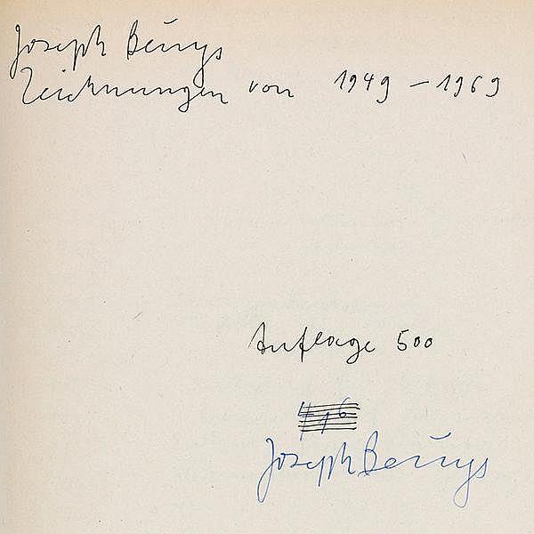 Beuys, Joseph. Zeichnungen von 1949-1969. (Teil 1). Mit zahlreichen Tafeln.