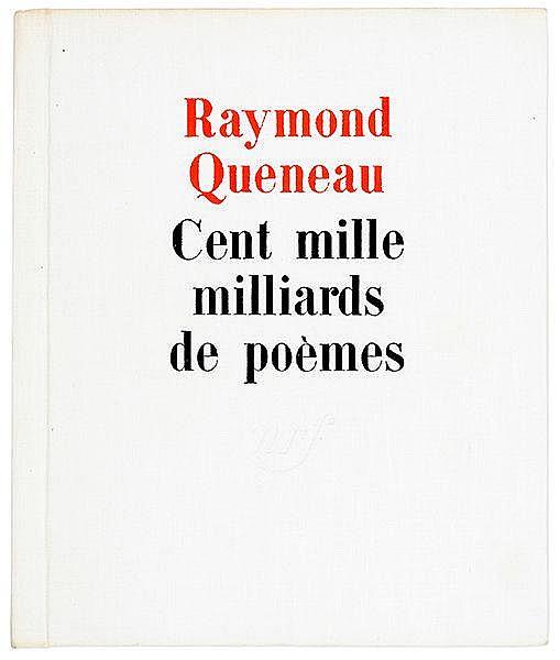 Queneau, Raymond. Cent mille milliards de poèmes. Postface de François le L