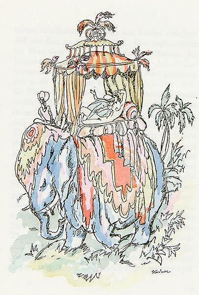 Kainer, Ludwig - - Vallentin, Antonina. Die purpurne Flut. Märchen und Grot