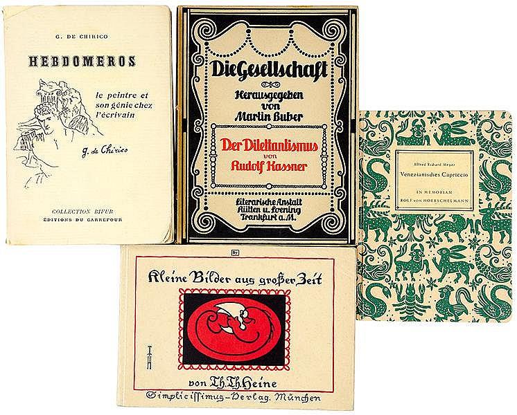 Widmungsexemplare - - Sammlung von 18 Widmungsexemplaren diverser Autoren.