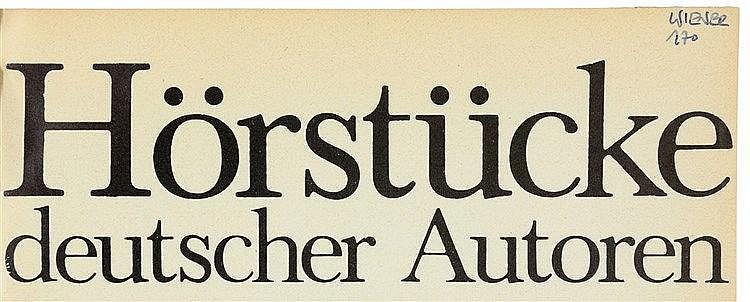 Wiener Aktionismus - - Hörstücke deutscher Autoren. Hörraum 1 ist eine Test