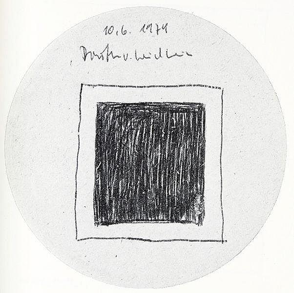 Wiener Aktionismus - - Helms, Dietrich. Schwarze Quadrate. Mit zahlreichen