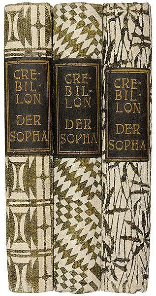 Wiener Werkstätte - - Crébillon, C. P. J. de. Der Sopha. Moralische Erzählu