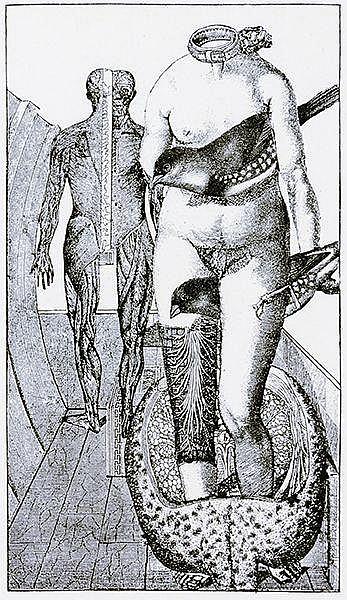 Ernst, Max - - Éluard, Paul. Répétitions. Dessins de Max Ernst. Mit farbige