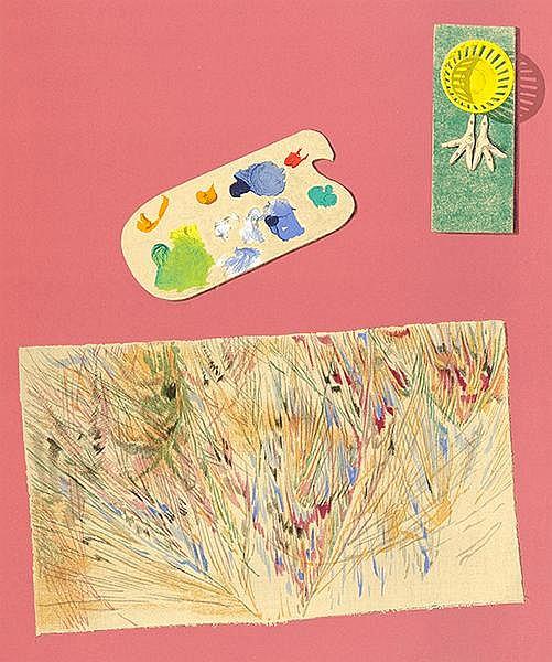 Ernst, Max - - Char, René. Dent prompte. Mappe mit 10 farbigen Lithographie