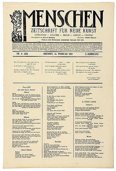 Expressionismus - - Menschen. Zeitschrift f?r Neue Kunst. 2. Jg. (1919), Nr