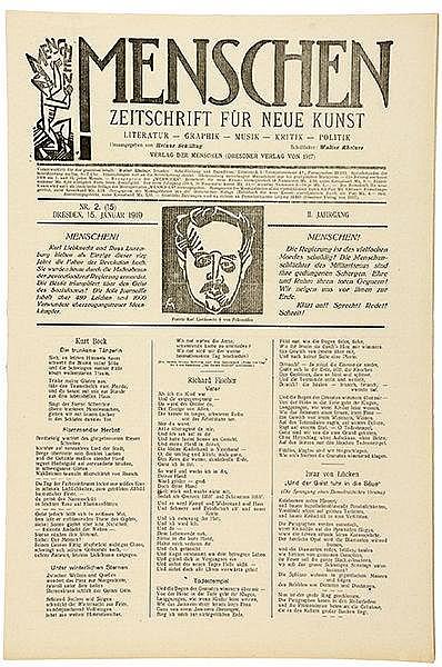 Expressionismus - - Menschen. Zeitschrift für neue Kunst. 2. Jg. (1919), He