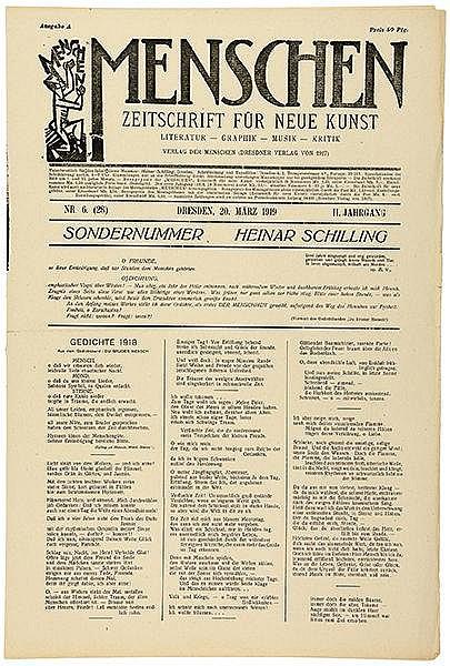 Expressionismus - - Menschen. Zeitschrift für Neue Kunst. 2. Jg. (1919), Nr