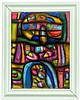 Ortelt, Karl. Organische Formen - Komposition VIII. Mischtechnik auf Pappe., Karl Ortelt, €200