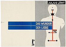 Bauhaus - - Dexel, Walter. Schutzumschlag (Probedruck) für Julius Löwy