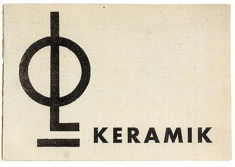 Bauhaus - - Lindig, Otto. Keramik. (Katalog der lieferbaren Keramiken). Dor