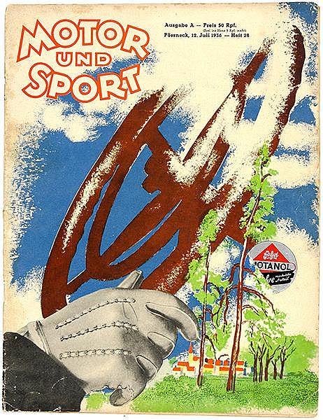 Bauhaus - - Moholy-Nagy, Laszló. Farbige Umschlaggestaltung für: Motor und