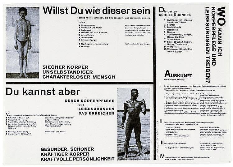 Typographie - - Molzahn, Johannes (zug.). Willst Du wie dieser sein. Werbeb