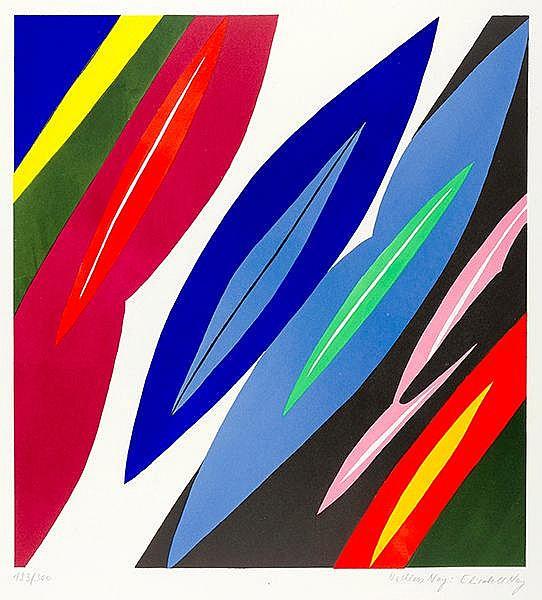 Nay, Ernst Wilhelm. Farblitho 1968-2 (NOR). Farblithographie auf chamoisfar