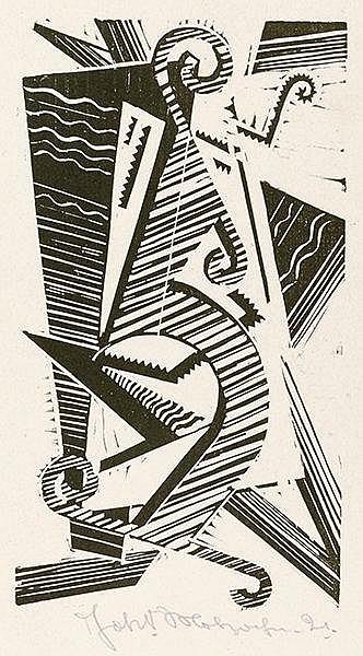 Molzahn, Johannes. Opus XXXIII. Holzschnitt auf Velin. Unten mittig signier