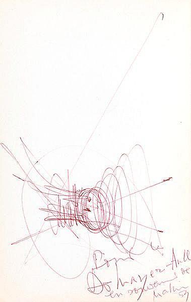 Mathieu, Georges. Ölbilder, Gouachen, Lithographien. Katalog zur Ausstellun