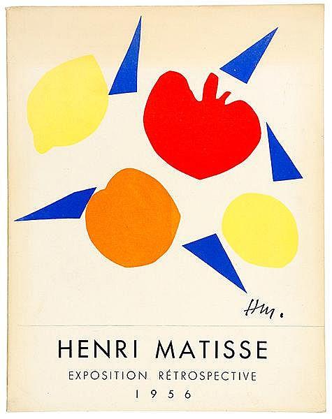 Matisse, Henri. Exposition rétrospective 1956. Mit einer farbig lithographi
