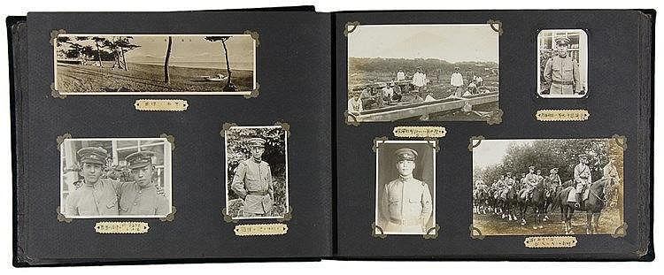 Japan - - Album mit über 120 Bildern von japanischen Militärs. Original-Pho