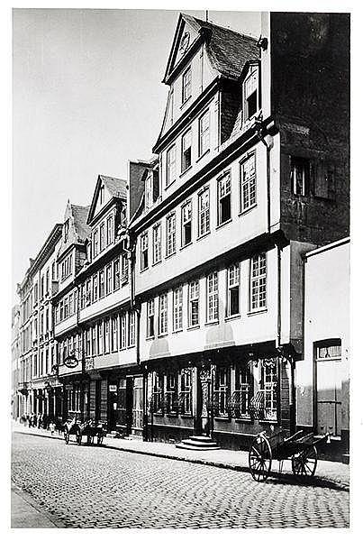 Künstlerphotographie - - Wolff, Paul und Alfred Tritschler. Goethehaus in F