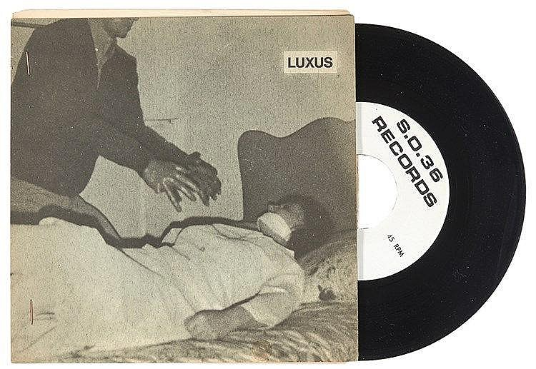 Kippenberger / Hahn / Mitchell. Luxus. Zwei Schallplatten (Singles. 45 RPM)