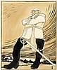 Karikatur - - Paul, Bruno. Denkmalsenthüllung (Fürst Bismarck in Siegerpose, Bruno Paul, €240