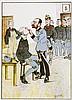 Karikatur - - Schönpflug, Fritz. Sammlung von 9 (8 farbigen) Farblithograph, Fritz Schönpflug, €200