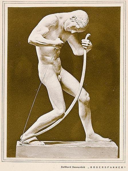 Bildhauerei - - Meisterwerke deutscher Bildhauerkunst. Kunstdrucke nach Wer