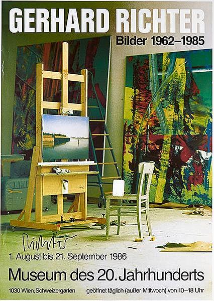 Richter, Gerhard. Bilder 1962-1985. Farboffsetplakat für die Ausstellung im
