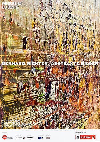 Richter, Gerhard. Abstrakte Bilder. Farboffsetplakat für die Ausstellung im