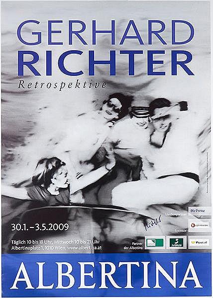 Richter, Gerhard. Gerhard Richter Retrospektive. Farboffsetplakat für die A