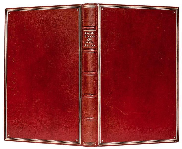 Großmann, Rudolf - - France, Anatole. Der dürre Kater. Mit 24 (meist kolori