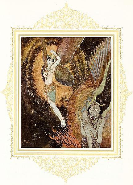 Dulac, Edmond - - La Princesse Badourah. Conte des mille et une nuits. Mit