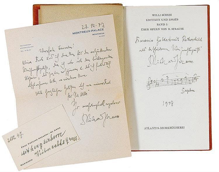Strauss, Richard - - Schuh, Willy. Über Opern von Richard Strauss. Zürich,