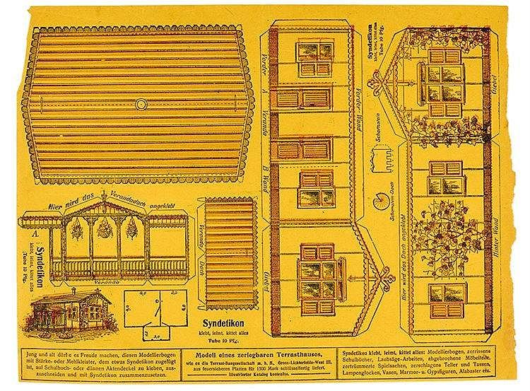 Steglitzer Werkstatt - - Drei Arbeitsproben der Werkstatt mit Doubletten in