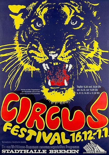 Plakate - - Strohbach, Harald u. Wolfgang Krey. Circus Festival 16.12. - 1.