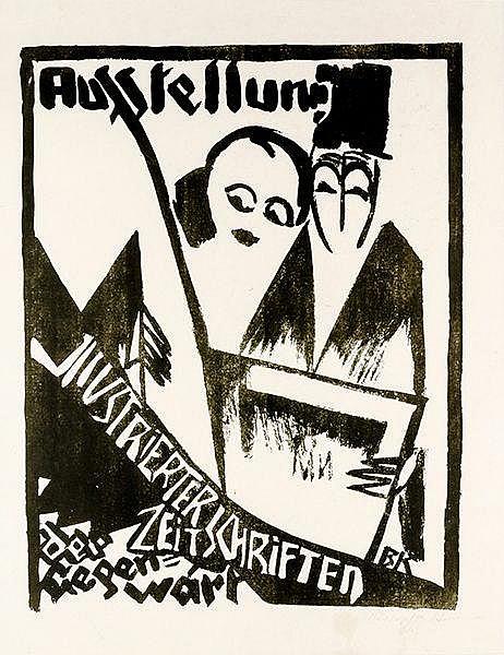 Plakate - - Kretzschmar, Bernhard. Ausstellung illustrierter Zeitschriften