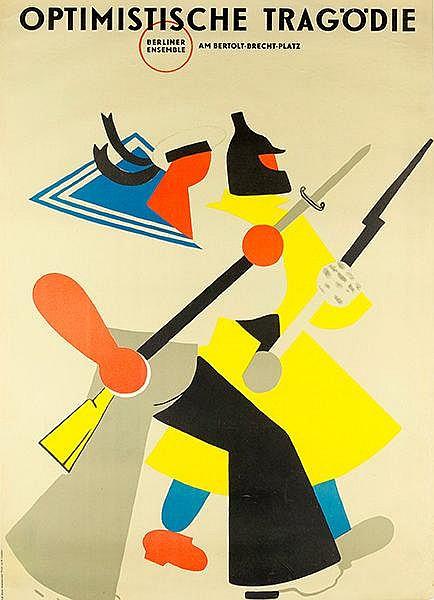 Plakate - - Lebedew, W. (nach). Optimistische Tragödie. Farbiges Plakat zur