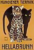 Plakate - - Hohlwein, Ludwig. Münchener Tierpark Hellabrunn. Offset-Plakat., Ludwig Hohlwein, €160