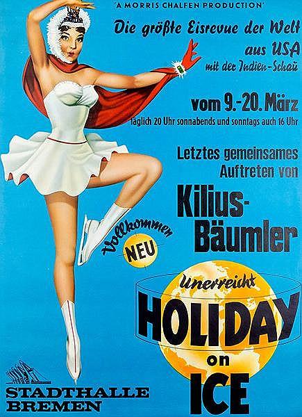 Plakate - - Holiday on Ice. Vollkommen neu. Die grösste Eisrevue der Welt a