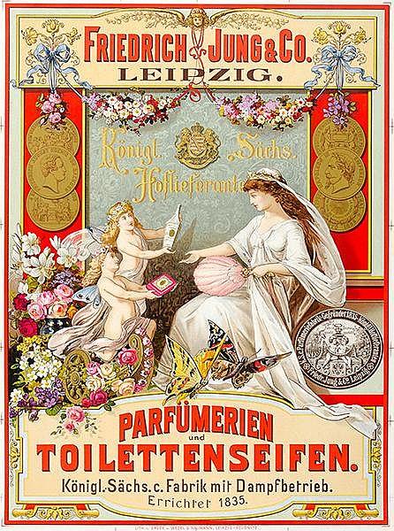 Plakate - - Friedrich Jung und Co. Parfümerien und Toiletteseifen. Farbig l