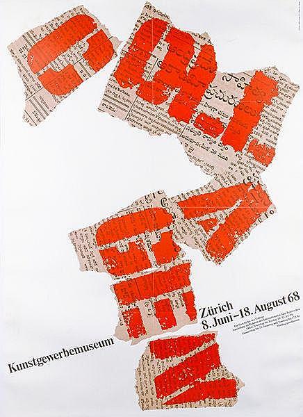 Plakate - - Die Geschichte der Collage. Plakat für das Kunstgewerbemuseum Z