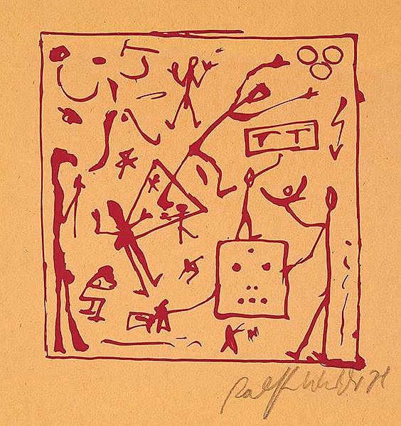 Penck, A. R. Skizzen von 1968. Überarbeitet 1979. Mit 21 (inkl. Umschlag, 1