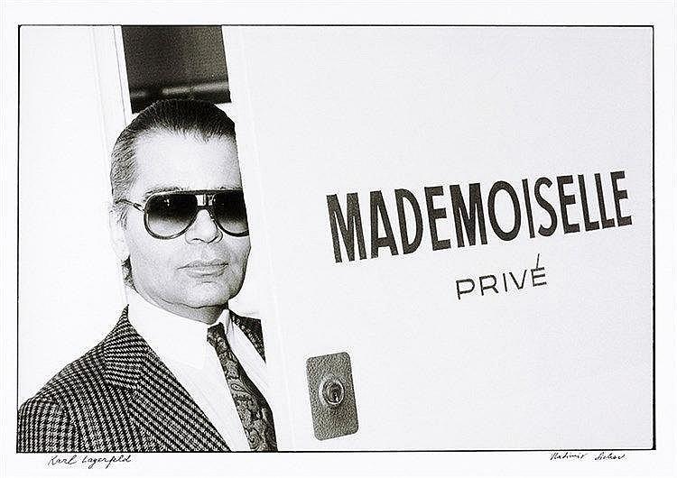 Künstlerphotographie - - Sichov, Vladimir. Karl Lagerfeld. Original-Photogr