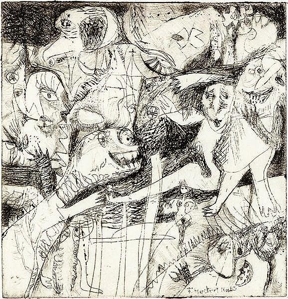 Rimbaud, Arthur. Gedichte. Mit 8 Original-Radierungen von Frank Heckert und